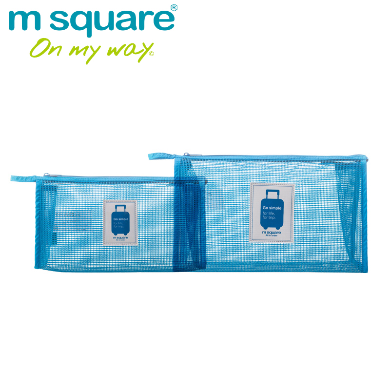 M Square Mesh Travel Make Up Bag Women Vanity Cosmetic Bag Organizer Neceser Makeup Toiletry Bags Organizador Handbag Clutch