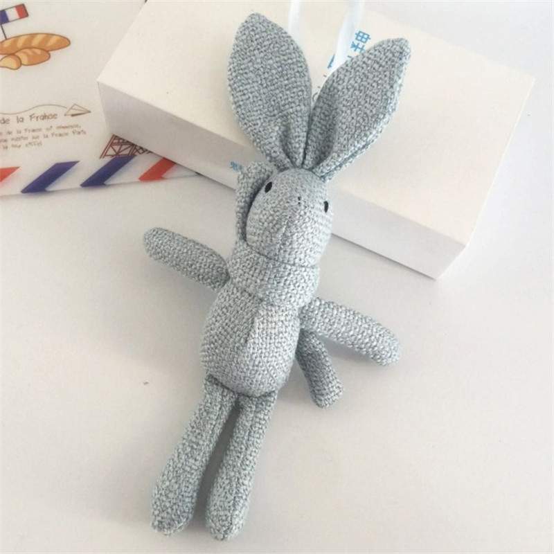 10pcs NEW Rabbit Plush , Animal Stuffed Dress Rabbit Key Chain TOY, Kid's Party Plush TOY , Bouquet Plush Dolls