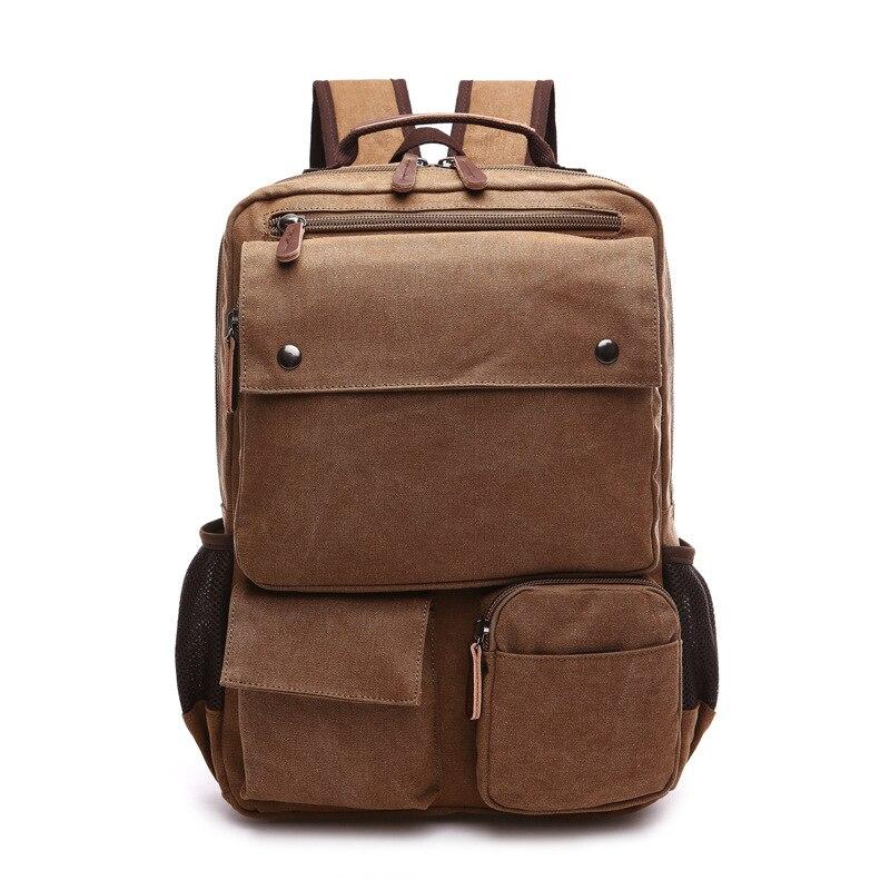 Vintage Canvas Men Backpack Preppy Style Schoolbags Travel Bag Trendy Laptop Bags Weekend Mochila B12