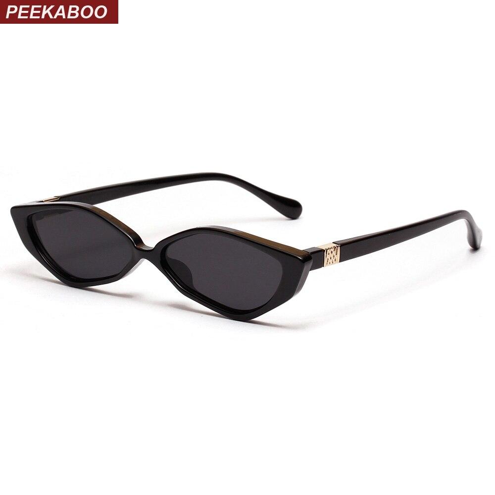 Peekaboo triângulo olho de gato óculos de sol das mulheres retro do vintage  2019 uv400 do 72771c2b05