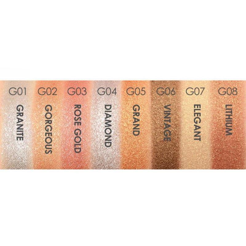 Focallure Waterproof Eye Shadow Shade for Nude Makeup Matte Diamond Glitter Metallic Single Eyeshadow Cosmetic Tool Maquiagem W3