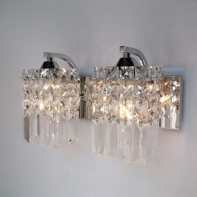 Crystal Wall Sconce Modern Light Indoor Decorative Lights Lamp Led Mounted Bedroom Bathroom