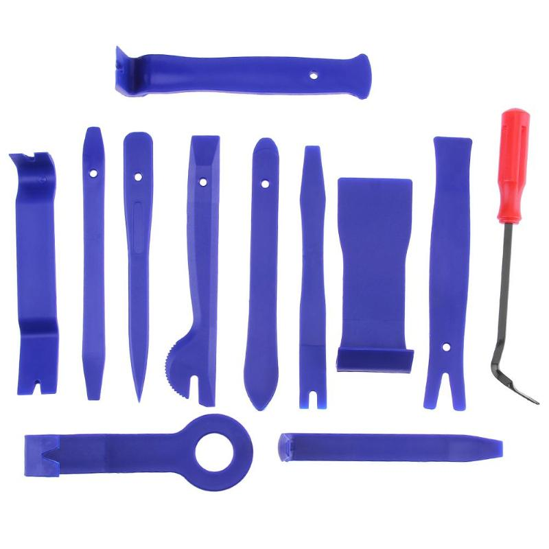 12pcs Car Disassembly Tools DVD Stereo Refit Kits Interior Moulding Trim Panel Dashboard Installation Removal Repair Tools