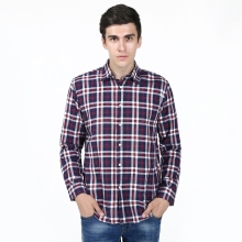 New Fashion Slim Fit Plaid Casual Shirt Men's Social Dress Shirt Full Sleeve Turn Down Collar Standard US Size