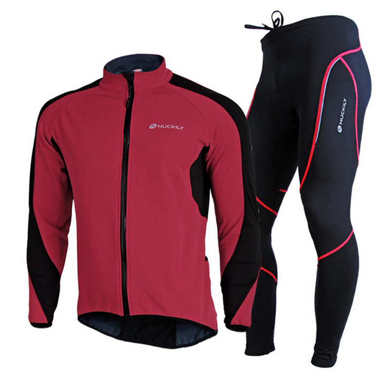 7e54337a0 NUCKILY Men Cycling Jersey Winter Ropa Ciclismo Thermal Fleece Bike Clothing  Set Sportswear MTB Road Bicycle ...