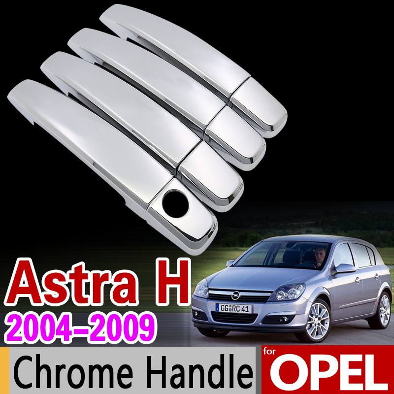 for OPEL Astra H 2004-2009 Chrome Handle Cover Trim Set Holden Vauxhall Astra Family 2007 Car Accessories Sticker Car Styling ветровики prestige opel astra h sd4d 04