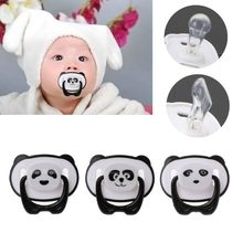 Cute Panda Nipple Dummy Pacifier Baby Food Grade PP Silicone Soother Toddler Orthodontic Nipples with Ring Teether Baby Pacifier 0 3y silicone transparent infant pacifier newborn soother teether silicone pacifier care feeding food grade silicone with box