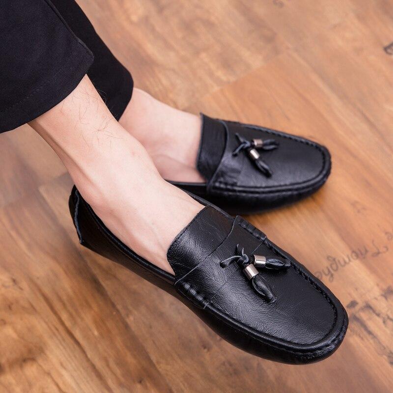 Men Rivet Dress Italian Shoes Outdoor Slip On Men Mesh Leather Moccasin Glitter Formal Male Shoes Pointed Toe Shoes For Men P4 Men's Shoes Shoes