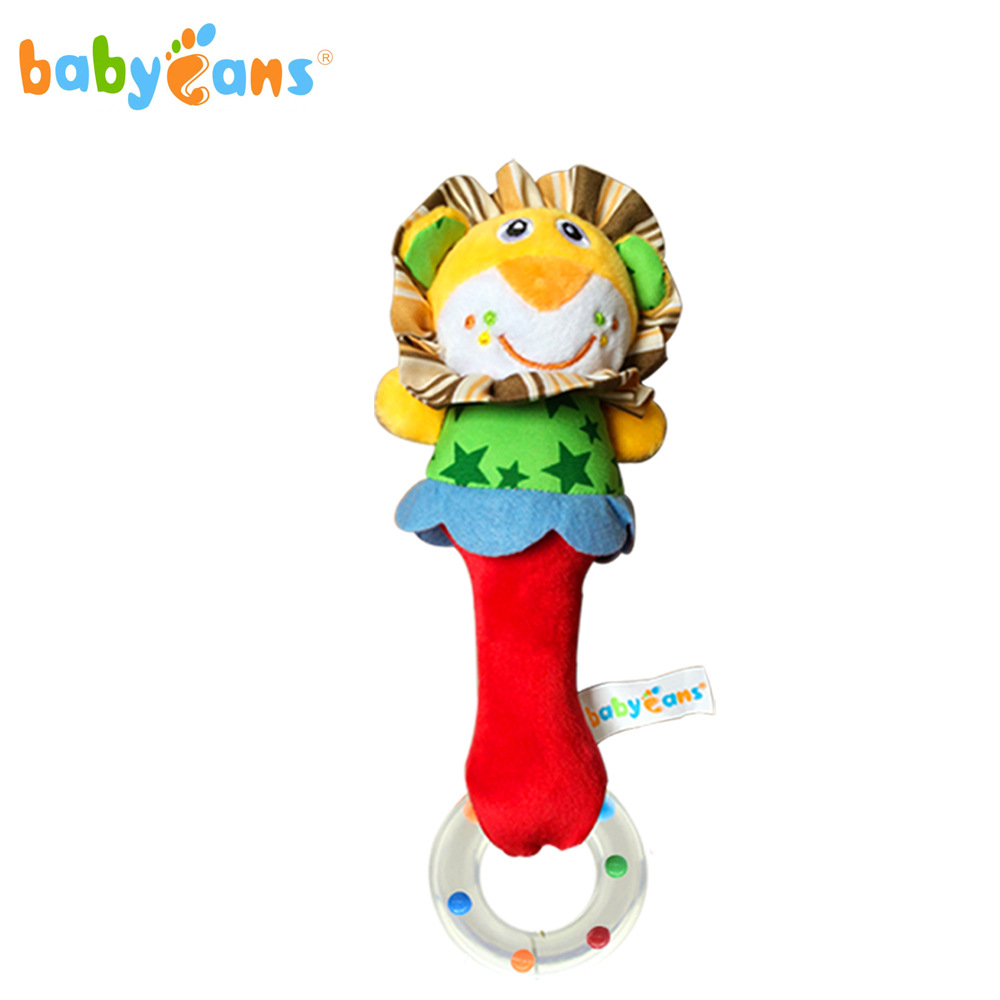 BABYFANS cute plush animal hand bell baby toy baby rattle bell toy newborn baby early childhood doll gift