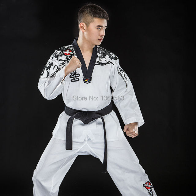 High end genuine Taekwondo uniform adult TKD wear long