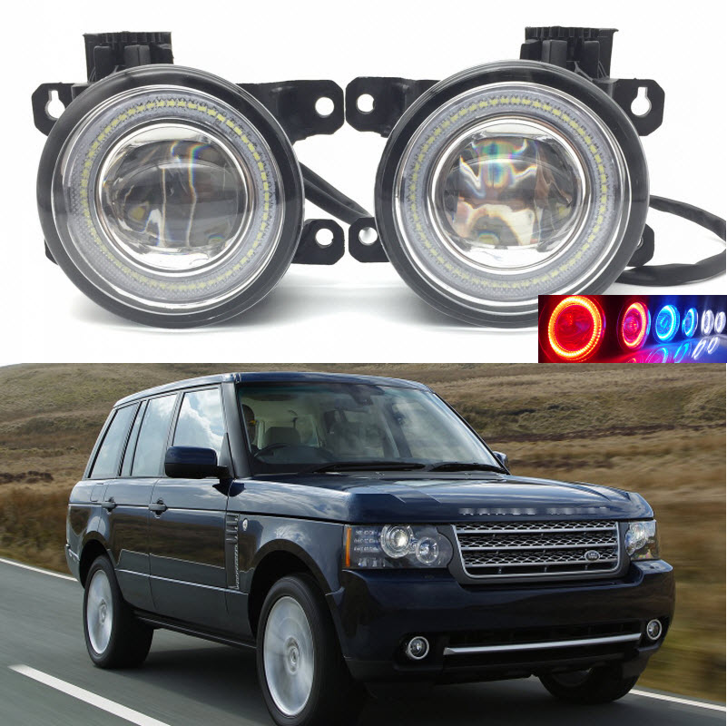 Car Styling 2 in 1 LED Angel Eyes DRL Daytime Running Lights Cut-Line Lens Fog Lamp for Land Rover Range Rover 2010 2011 2012 for land rover range rover sport freelander 2 discovery 4 2006 2014 car styling led fog lights lamp crystal blue blue 12v