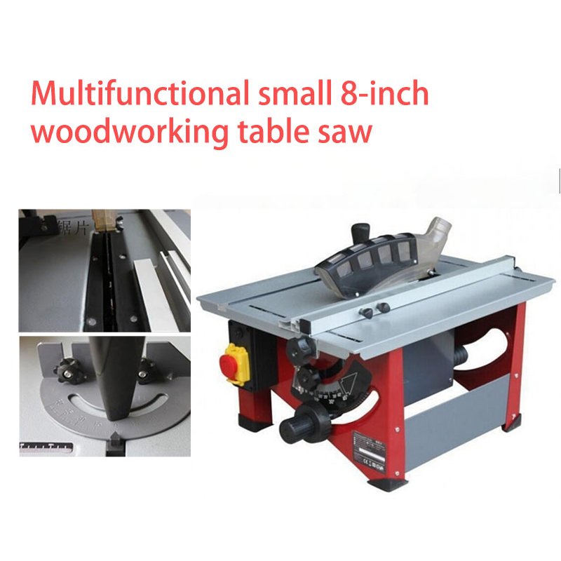 1400W 4800r / min woodworking table saw wooden DIY electric saw round angle adjustment oblique saw blade diameter 210 mm