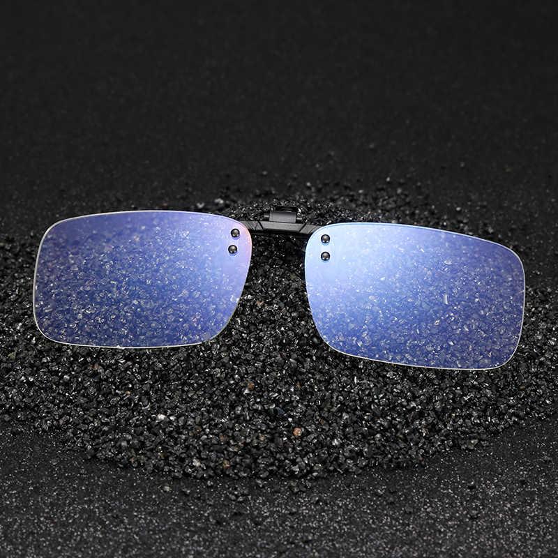 Lunettes d'ordinateur anti-rayons bleus jeu lunettes clip sur lunettes protection des yeux jour et nuit lunettes résistantes aux rayonnements myopie verre