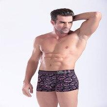 Боксер мужская 2016 сексуальная мода орнамент underwear мужская дышащий боксеры(China (Mainland))