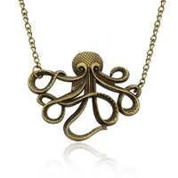 À la mode Pirates Des Caraïbes Bijoux Vintage Octopus Collier Ras Du Cou Punk Animal Unisexe Colliers Pendentifs Steampunk Collier