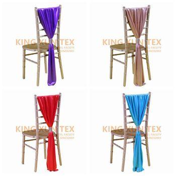 Elegancki lód jedwabny szyfon krzesło typu chiavari Sash pokrowiec na krzesło zawiera klamrę na bankiet na wesele do hotelu dekoracje na imprezy okolicznościowe tanie i dobre opinie BANQUET Domu Ślub SILKK11TTY Zwykły 100 poliester Gładkie barwione Jednorazowe SHENGXuntex 70x180cm wedding