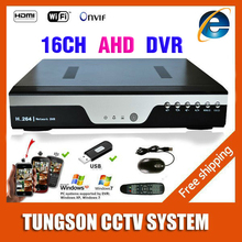 New Products 16CH AHD DVR For 720P 960P 1080P AHD CCTV Camera 16 Channel ONVIF IP