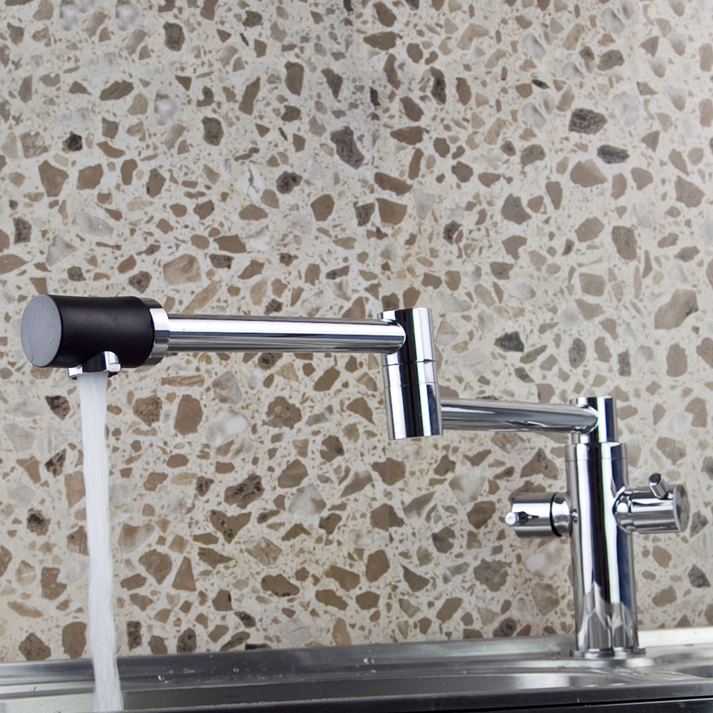 Construction Real Estate Kitchen Sink Basin Chrome Brass Mixer Tap Faucet JN8528