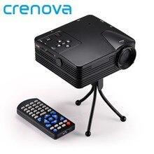 Crenova H80 Sistema Multimedia Proyector 640×480 Píxeles de Imagen Full HD 1080 P Proyector LED Home Cinema Soporte de Vídeo USB/HDMI