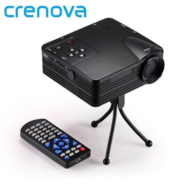 Crenova H80 Proiettore Multimediale Sistema di Immagine 640x480 Pixel Full HD 1080 P HA CONDOTTO il Proiettore Video Home Cinema Supporto USB/HDMI