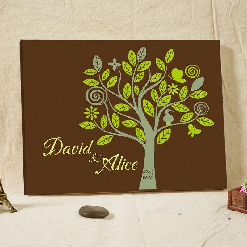 Rustikale Hochzeit Gästebuch Fingerabdruck Baum Gerahmte ...