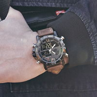 NAVIFORCE Top Brand Men's Military Sports Watches Waterproof LED Digital Analog Quartz Wristwatches Men Clock Relogio Masculino