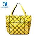 Designer de moda xadrez das mulheres saco ocasional sacola Cathylin espaçoso treliça geometria bolsa Geométrica mosaico bolsa de ombro