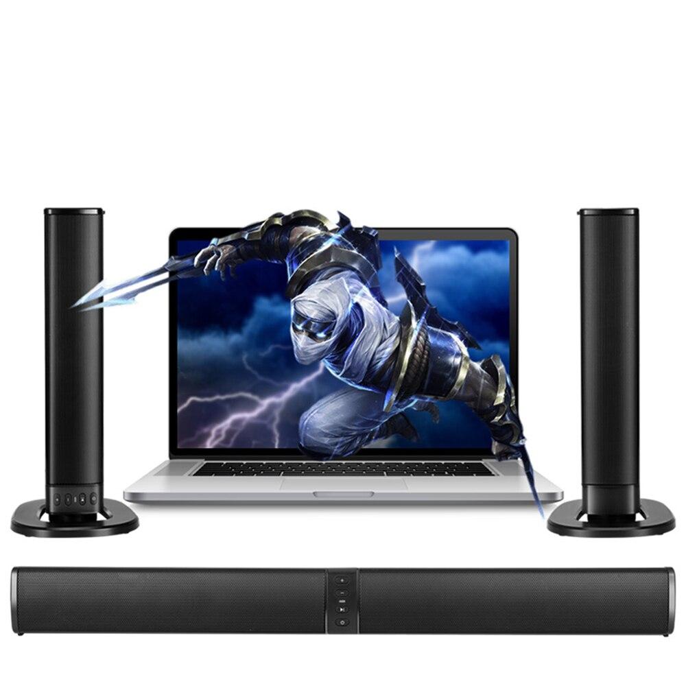 20 W (abnehmbar) Drahtlose Bluetooth Spalte Soundbar Stereo Lautsprecher Tv Heimkino 2.0a Eingebaute Batterie Sound Bar Tf Usb Fm