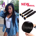 Grade 10A Indian Virgin Straight Hair 3pcs/lot Natural Black Human Hair Weave For African American Aliexpress Hair Extensions