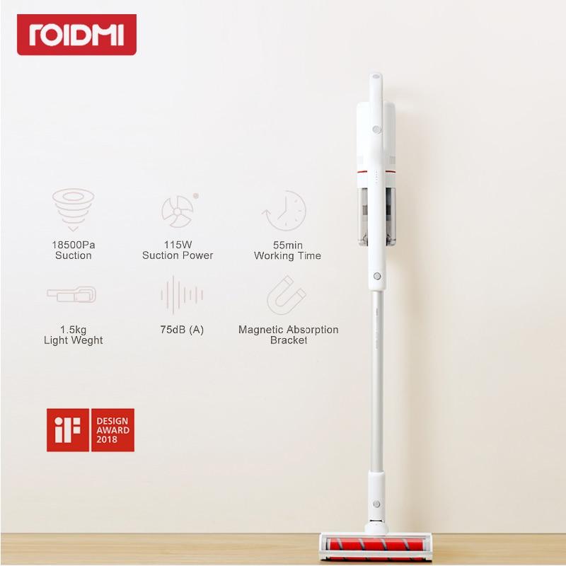 Xiaomi Roidmi F8 aspirador Original bajo ruido Home Handheld hogar colector de polvo Bluetooth LED cepillo multifuncional