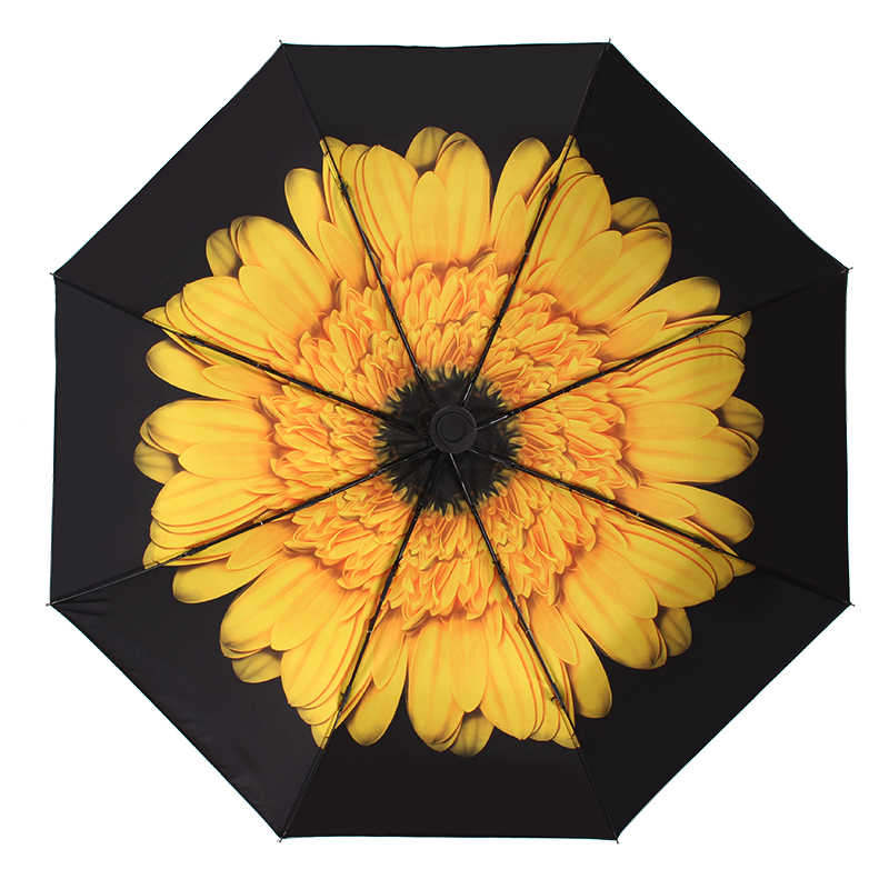Tropical Yellow Pineapples Rainproof and Windproof UV Protection Double Layer Folding Inverted Umbrella with C-Shaped Handle Reverse Umbrellas For Car Rain Outdoor