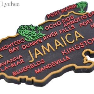 Image 5 - ライチ生活 1pcジャマイカ地図冷蔵庫マグネット漫画の冷蔵庫のステッカーdiy手作りの家の装飾