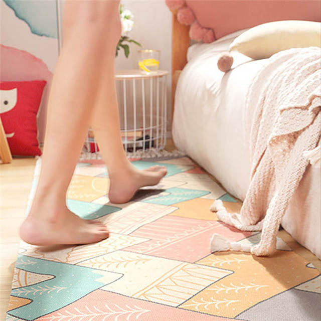 Bohemian Cotton Bedside Woven Mat