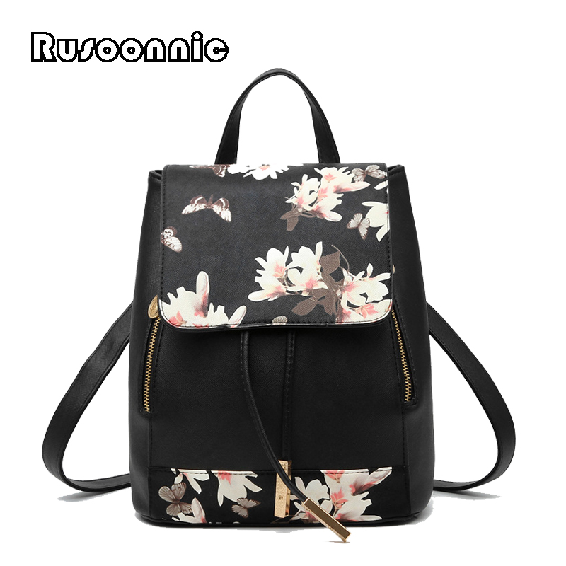 Rucksack, Female, Rusoonnic, For, School, Bagpack