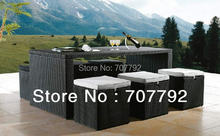 2017 New Arrival Outdoor Furniture Rattan Dining Table And Chairs Set(China)