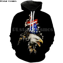 PLstar Cosmos Harajuku eagle and American flag 3d Printed Hoodies Men/Women animal Sweatshirt fashion street Clothing tops