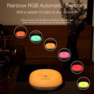 Image 4 - BlitzWolf BW LT18 الذكية لفتة التحكم الاستشعار 2800 3200K LED ضوء الليل RGB عكس الضوء السرير المحيطة مصباح ستبليس يعتم
