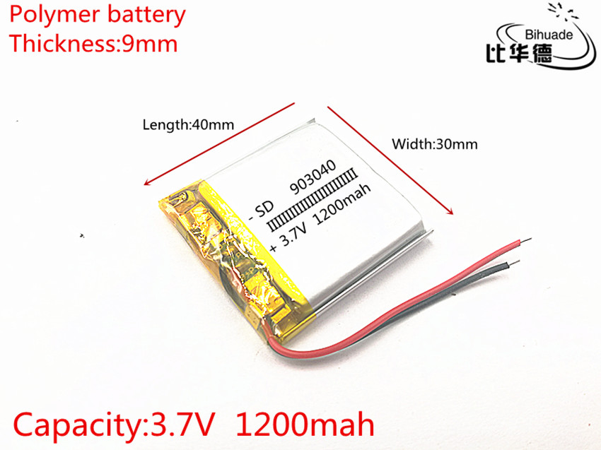 best battery brand Wholesale 903040 3.7V 1200mah Lithium polymer Battery with protection board For MP5 Bluetooth Earphone Fr best battery brand size 834370 3 7v 3200mah lithium polymer battery with protection board for pda tablet pcs digital products fr