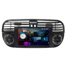 6.2 Pulgadas 1 Din Android 6.0 GPS de Navegación Para Automóviles Fiat 500 Abarth 2007 2008 2009-2015 Multimedia Radio Canbus SWC USB