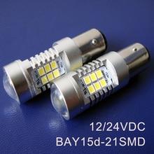 Высокое качество 12/24 V грузовик грузовых автомобилей BAY15d фонаря сигнала торможения 1157 PY21/5 Вт P21/5 Вт BAZ15d светодиодные лампы 4 шт./лот