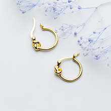 MloveAcc Genuine 925 Sterling Silver Korea Style Knot Stud Earrings for Women Cute Sterling-silver-jewelry
