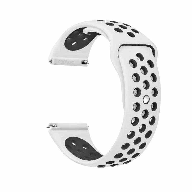 סיליקון שעון רצועת עבור amazfit ביפ WatchBands 22mm 20mm גלקסי שעון 46mm Samsung ציוד ספורט S2 s3 frontier קלאסי להקת שעון