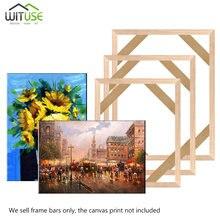 Marco de madera Natural para lienzo cuadro de pintura de fábrica proporcionar DIY foto de arte de pared marco Poster marco quadros de parede para sa