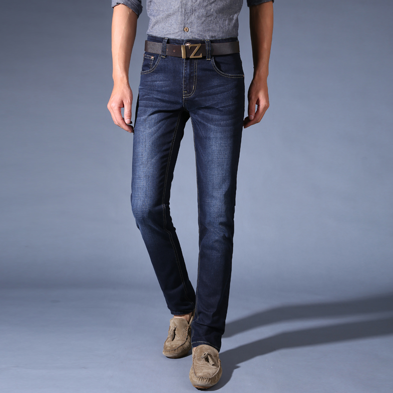 New Style Fashion Full Length Solid Skinny Jeans Men Brand Designer Clothing Denim Pants Luxury Casual Trousers Male