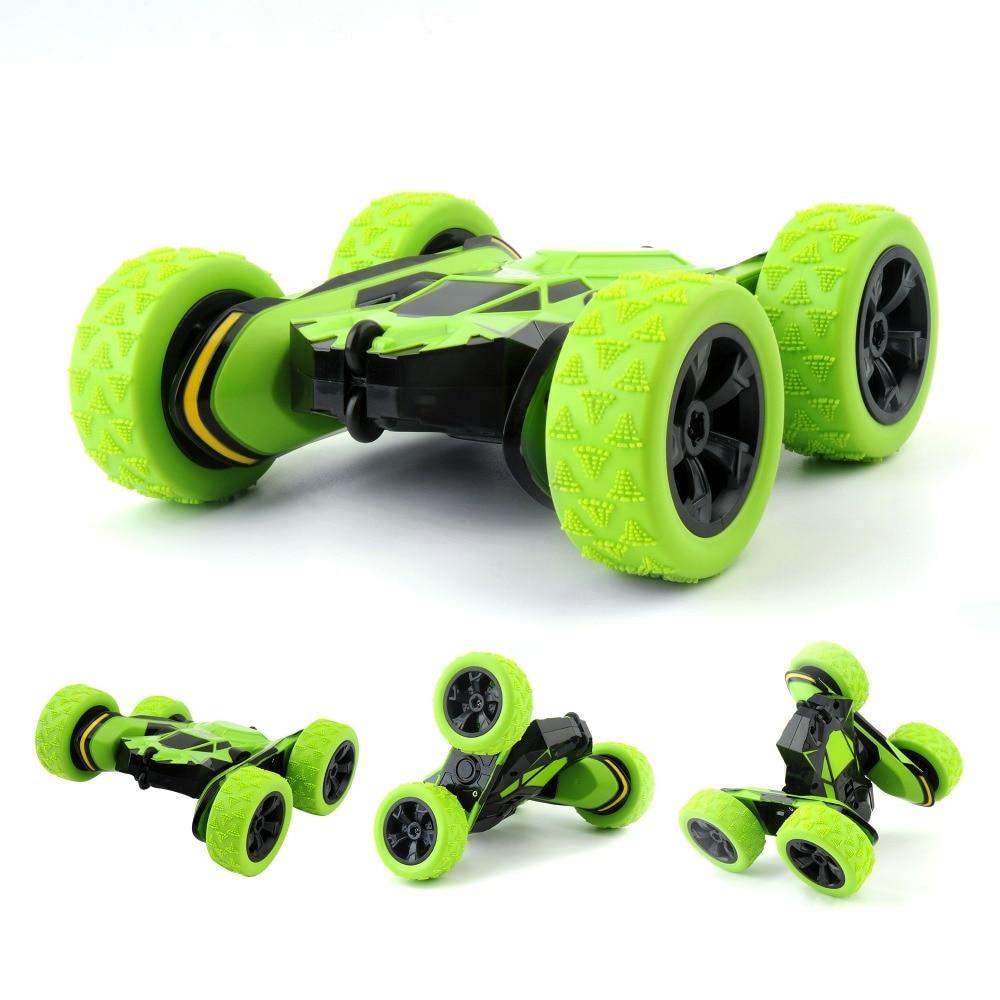 1/28 Fernbedienung Autos Stunt Rc Auto Hohe Geschwindigkeit Blinkende 3D Flip Grün & Rot Carro Controle Remoto Spielzeug Für kinder drop schiff