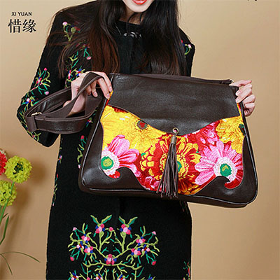 girl 2017 Hot Fashion Sale Floral Flap Cover shoulder Bags cow Leather Embroidery Women's Messenger crossbody Bag Bolsa Feminina 2018 hot sale cow leather women handle bags crossbody bag car structure flap bags bolsa feminina shoulder crossbody small bag