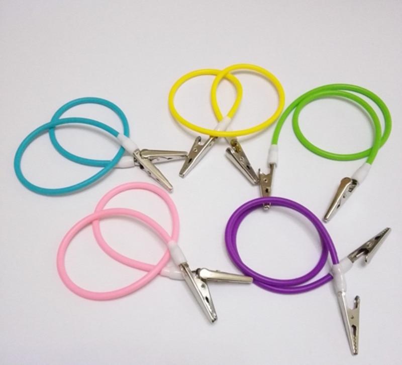 Losuncare 10 Pcs Dental Bib Clip Flexible Chain Napkin Holder Baby Silicone Patient Crocodile Teeth Whitening