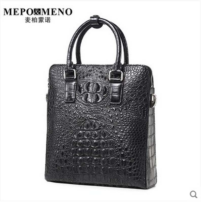 maibomengnuo Authentic crocodile skin Men's handbag simple fashion men handbag business casual single shoulder men bag tihinco new authentic crocodile handbag single shoulder bag leather male fashion business and leisure bag document package