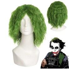 1:1Movie Batman The Dark Knight The Joker Green wig Heath Ledger cosplay Center