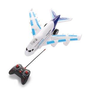 Пульт дистанционного управления Airbus Модель детский самолет игрушки Airbus электрический пульт дистанционного управления модель самолета с о...